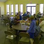 Enjoying the Meal at Star of Bethlehem Lutheran Church Winston Salem