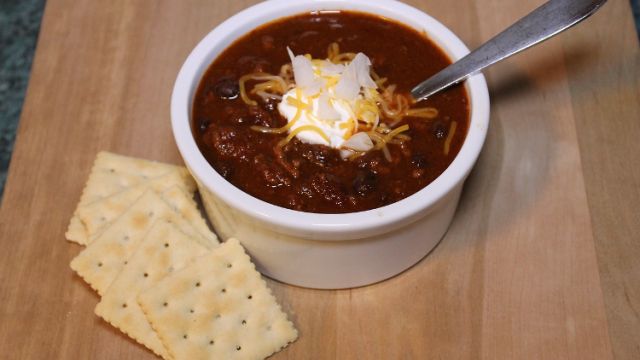 It's not hot it's chili